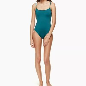 Kate spade Foliage Crescent Bay One Piece Green S